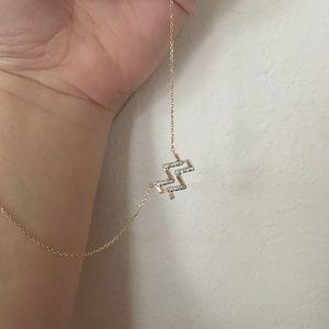 Jewelry - 14K Gold Aquarius Necklace with Diamonds